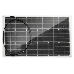 100W Flexibel Monokristallin Solarpanel Modul Solarzelle Sonnenkollektor Camping 18V