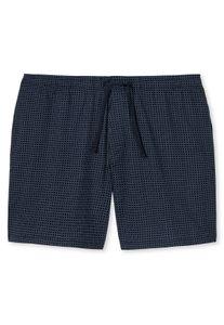 Schiesser Herren kurze Schlafanzughose Loungehose Long Boxer - 163838, Größe Herren:52, Farbe:dunkelblau-gem.