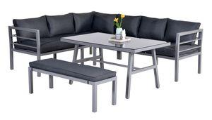 Garden Impressions Lounge/Dining Set Blakes 4-tlg. Aluminium arctic grey