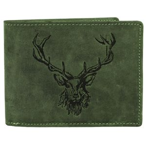 Greenburry Vintage Leder Geldbörse Portemonnaie 1705-RS, Farbe:Olive