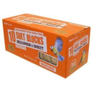 Suet To Go Mehlwürmer & Insekten Blöcke (10 Stück/Packung) PD3294 (Einheitsgröße) (kann variieren)