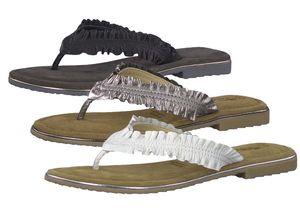 Tamaris Damen Zehentrenner Weiß Schuhe, Größe:38