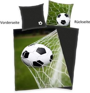 Herding  Bettwäsche mit Fußball 2 tlg. 140 x 200 cm Baumwolle