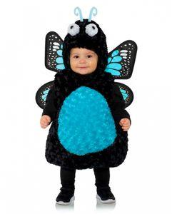 Plüsch Kleinkinderkostüm blauer Schmetterling für Karneval Größe: XL