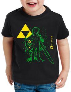 style3 Hyrule Abenteurer T-Shirt für Kinder switch lite snes zelda ocarina link, Größe:128