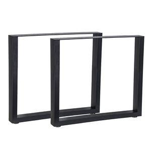 Melko 2X Tischuntergestell Schwarz Tischkufen 80x72 cm Tischgestell Stahl Sockelfuß ??