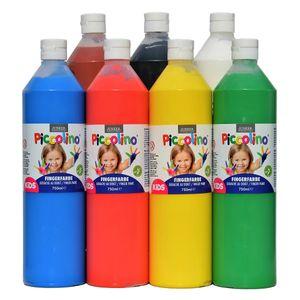 Piccolino Fingerfarben Set 7x750ml - ideal für Kindergarten Kita Therapie
