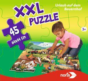 Noris Spiele XXL Puzzle Urlaub auf dem Bauernhof; 606031565
