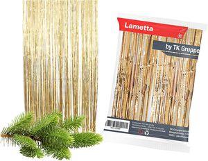 3X gold Lametta- Kein Blei - Light Stanniol Metal Technology - Material als Deko Dekoration zu Weihnachten