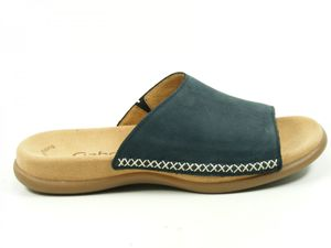 Gabor 03-705 Schuhe Damen Pantoletten Nubuk, Schuhgröße:37, Farbe:Blau