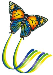 Einleiner Kinderdrachen Butterfly 65 cm