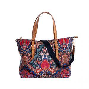 Oilily Paisley Hand Bag Royal Blue