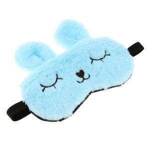 1 Stück Bunny Plüsch Schlaf Augenabdeckung Blau Augenklappe wie beschrieben