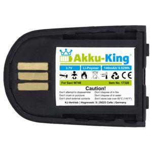 Akku kompatibel mit Plantronics 84598-01 - Li-Polymer 140mAh - für Savi 440, 740, W440, W440-M, W740, W740-M, W745, WH500