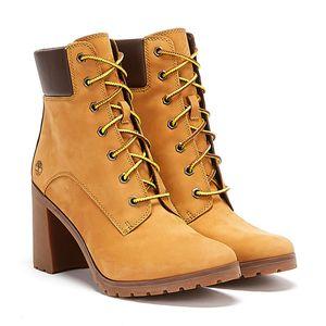 Timberland Allington 6-Inch Damen Echtleder Stiefel Beige Schuhe, Größe:39