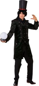 Herren Kostüm dunkler Magier Vampir Lord Halloween Mantel Gr.50/52