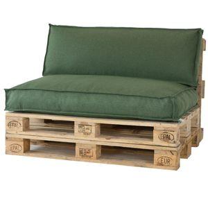2L Home & Garden Rückenkissen Metro Lounge Olive – 120 x 40 cm
