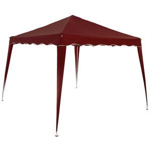 Pavillon 3x3m UV-Schutz 50+ wasserdicht faltbar inkl. Tasche Faltpavillon Capri Partyzelt Gartenpavillon Pop Up Zelt, Farbe:rot