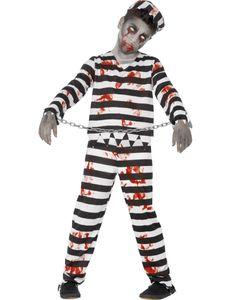 Halloween Horror Kinder Kostüm Zombie Sträfling Gr.10 bis 12 Jahre