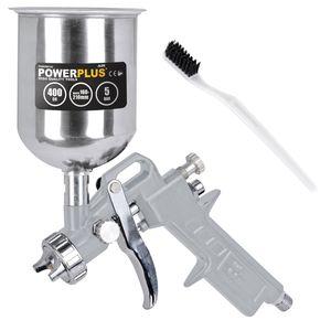 Lackierpistole Druckluft Hochdruck Farbspritzpistole Fließbecherpistole 400 ml - Fliesbecherpistole - 400 ml