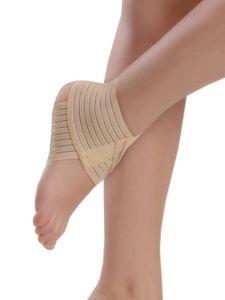 Sprunggelenk Bandage weiche Fixierung Band Kompression Fuß Gelenk Knöchel 7034 beige L