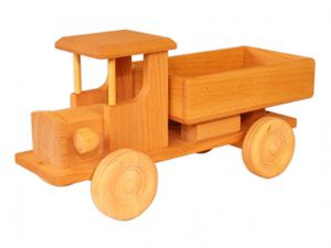Holzauto nachhaltiges Holzspielzeug Lastwagen LKW Lastauto Baufahrzeug 933-9256