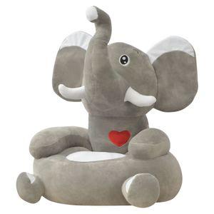 Baby® Plüsch-Kindersessel Elefant GrauMöbel,Baby- & Kleinkindmöbel,Kinderstühle Direkt vom Hersteller🌈9571