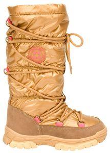 Winter-grip Kinder Schneestiefel Jr Glossed Highness Beige/Braun/Fuchsia Winter-Schuhe, Größe:31