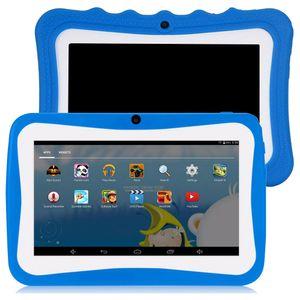 Q768 7 Zoll Kinder Tablet Android Tablet PC 8 GB ROM 1024 * 600 Auflösung Tablets mit Silikonhülle EU-Stecker WiFi Tablet für Kinder,Blau