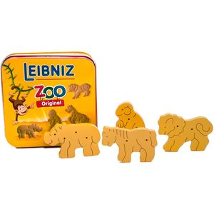 Leibniz Tiere aus Holz in Metalldose