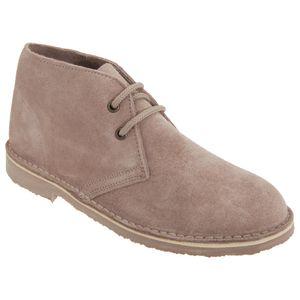 Roamers Damen Desert Boots / Wüstenstiefel / Schuhe, Wildleder, ungefüttert DF209 (39 EU) (Helles Taupe)