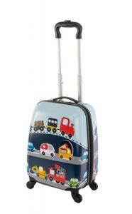 Travelhouse - Happy Children - Busy Cars - 27 l - Kindergepaeck Kindertrolley Kinderkoffer Reisekoffer Jungen Handgepaeck Reisegepaeck