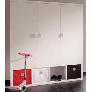 Phoenix Schrank Caro mit 3 Türen 185 x 150 x 55 cm, Farbe Weiß
