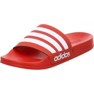adidas neo adilette Cloudfoam red/white 43 1/3 (UK 9)