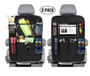 2 Stück Auto Rücksitzschoner Rückenlehnenschutz KFZ Rücksitz Organizer Kindersitzunterlage Sitzschoner