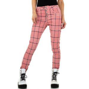 Ital-Design Damen Jeans Boyfriend Jeans Rot Gr.s/36