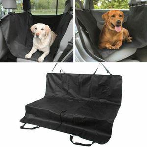 Pet Hundedecke Schutzdecke Haustier Autoschondecke Rückbank Hunde Polyester 132x142 cm schwarz