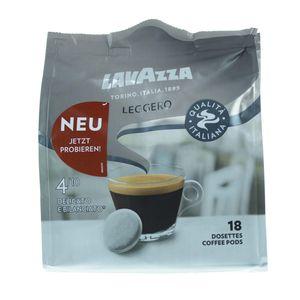 Lavazza Leggero Kaffeepads, Delikat und Ausgeglichen, Röstkaffee, Kaffee, 18 Pads
