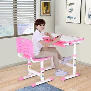 Kinderschreibtisch Jugendschreibtisch Zeichentisch Kindermöbel Sitzgruppe mit Stühlen Verstellbar & Neig