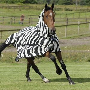 Bucas Buzz-Off Full Neck PONY - zebra, Größe:85