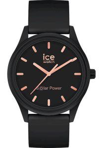 Ice-Watch 018476 Solar-Armbanduhr S Schwarz/Roségoldfarben