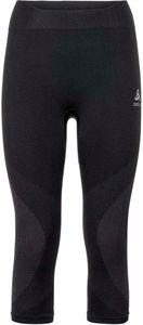 Odlo Suw Performance Warm 3/4 Bottom Pants Women black-odlo concrete grey Größe L