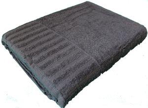 langes Saunatuch, 80 x 200 cm, grau, 100% Baumwolle, Frottier Strandtuch, Strandlaken, uni einfarbig