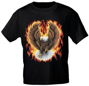T-Shirt Print | Feuerwehr Adler in Flammen | Gr. S-XXL |10590 Color - schwarz Größe - XXL