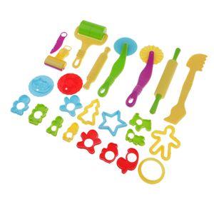 24 Stück Knetwerkzeug Kinder, Knete Werkzeug Knete Zubehör, Ausstechformen für Knete, plastilin zubehör