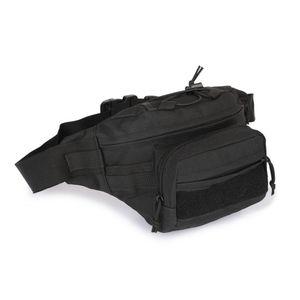Große Trekking XXL Gürteltasche Hip Bag Taktische Molle Hüfttasche Army Bauchtasche in Schwarz