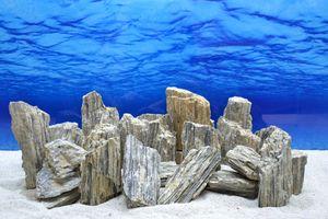 Pro Stein Aquarium Deko Glimmer Wood Rock grau Glimmer Effekt 0,8-1,2 Kg Nr.46
