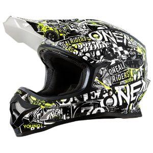 ONEAL 3Series ATTACK Motocross Helm schwarz-neongelb :  2XL (63/64)