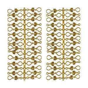 60 Stück Weihnachtskugeln Haken 'Goldene Schleife' Aufhänger