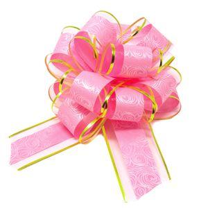 Oblique Unique Geschenkschleife Deko Schleife für Geschenke Tüten Zuckertüte Weihnachten Geschenkdeko - rosa gold